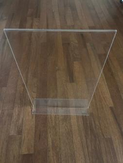 11x17 T-style Acrylic Sign Holder Picture Frame Tabletop Pos