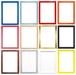 12 Rainbow Colours Modern Square Picture Photo Poster Frame