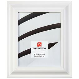 """Craig Frames 2"""" Wide Contemporary Satin White Picture Frames"""