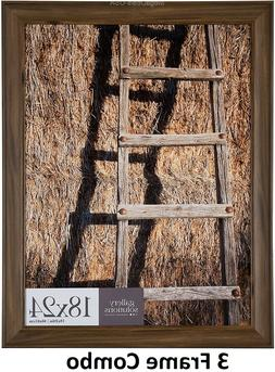 """3 Pack Gallery Solutions 18""""x 24"""" Large Wall Hanging Picture"""