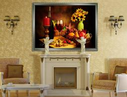3D Candlelight Kitchen 1 Framed Poster Home Decor Print Pain