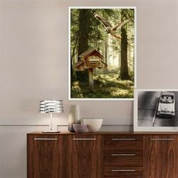 3D Forest Bird 55 Fake Framed Poster Home Decor Print Painti