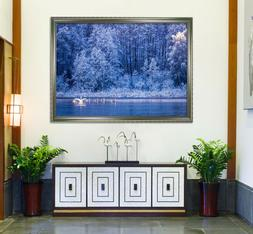 3D Forest Lake 55 Fake Framed Poster Home Decor Print Painti