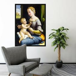 3D Mother And Son 2 Framed Poster Home Decor Print Painting