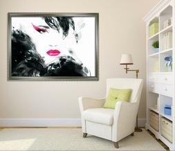 3D Red Lips Woman 4 Framed Poster Home Decor Print Painting