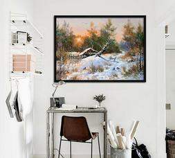 3D Snow Tree 55 Fake Framed Poster Home Decor Print Painting