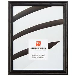 """Craig Frames .75"""" Traditional Gloss Black Wood Picture Frame"""