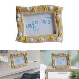 7cm*9cm Starfish Shell Photo Frame Cute Resin Picture Poster