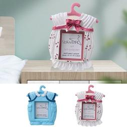 Baby Kids Clothes Shape Photo Frame Freestanding Pink Blue P