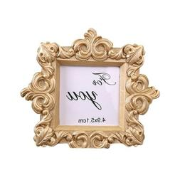 Baby Kids Photo Frame Freestanding Gold Picture Poster Home