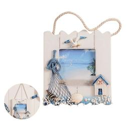 Beach Style Photo Frame Hanging Resin Picture Poster Home Cr