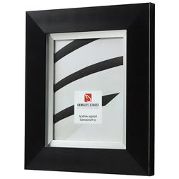 """Craig Frames Chesterton, 3"""" Black and Silver Picture Frame P"""