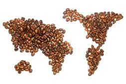 """Coffee World Map 16""""x24"""" Canvas Wall Art Framed for Office K"""