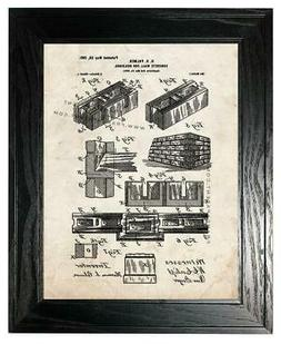 Concrete Wall for Buildings Patent Print Old Look in a Black
