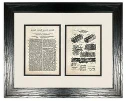 Concrete Wall for Buildings Patent with Two Pages Old Look -