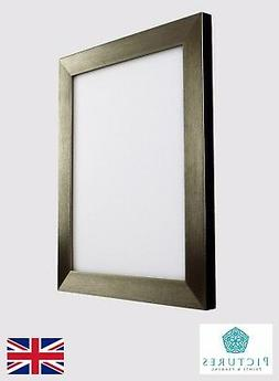 """Dark Silver Photo Picture Poster Panoramic Frames 13x13""""-24x"""