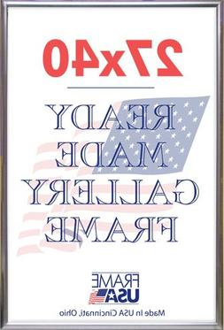 """Frame USA Deluxe Poster Frame, 27 x 40"""", Silver"""