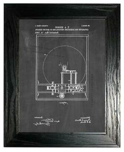 Edison Motion Picture Camera Patent Print Chalkboard in a Bl