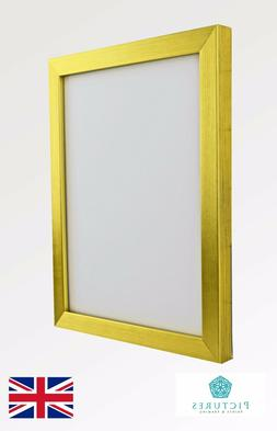 """Gold Photo Picture Poster Panoramic19mm Frame 3x3""""-12x16"""" A6"""