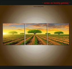 Green tree Landscape Home Decor Posters Print Painting Canva