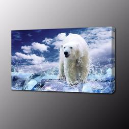 HD Polar Bear Picture Canvas Painting Print Poster Art for W