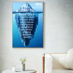 Iceberg of Success Landscape Poster Wall Art Canvas Painting