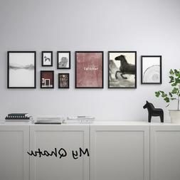 Ikea KNOPPANG Frame with Poster Picture Modern, Set of 8 Bla