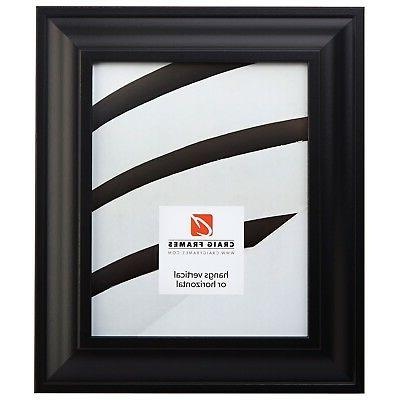 2 wide contemporary satin black picture frames