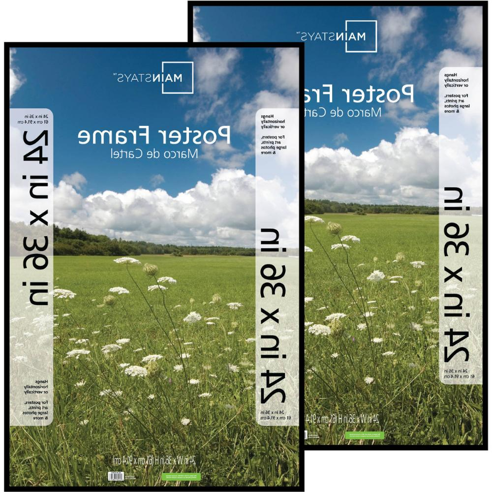 24x36 Basic Poster & Picture Frame, Office and 2 Pack