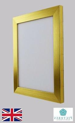 """Gold Photo Picture Poster Panoramic Frames 13x13""""-24x36"""" A1"""