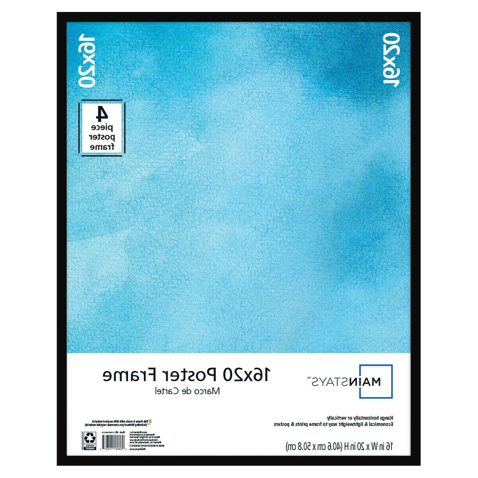 large basic poster and picture frame black