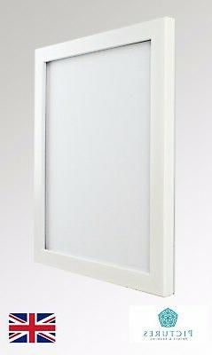 """White 19mm Photo Picture Poster Panoramic Frame 3x3""""-12x16"""""""