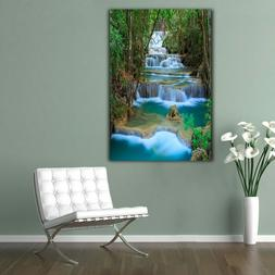 Modern Wall Art Posters For Living Room Waterfall Landscape