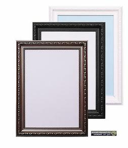 Ornate Shabby Chic Picture Photo Frame Poster Size Frame Whi