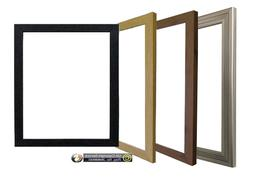 Photo Picture Frame Black White Pewter Oak Wooden Effect Pos