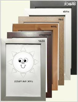 PICTURE PHOTO POSTER FRAME BEECH MAHOGANY PINE SILVER
