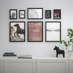 Set of 8 - Ikea KNOPPANG Picture Frame with Poster Artwork N