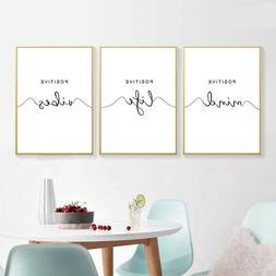 Simple Quotes Canvas Poster Black White Minimalist Wall Art