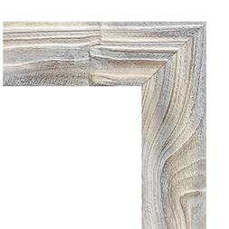 """US ART Frames Distressed White 2.75"""" Solid Wood Picture Post"""