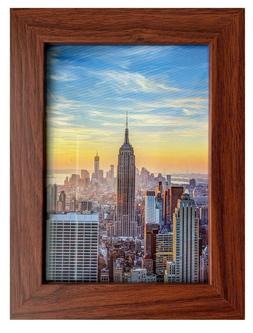 Frame Amo Walnut Brown Picture Frame or Poster Frame, 1 inch