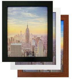 Frame Amo Black Wood Picture Frame or Poster Frame, 1 Inch W
